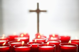 Religious Candles and Cross