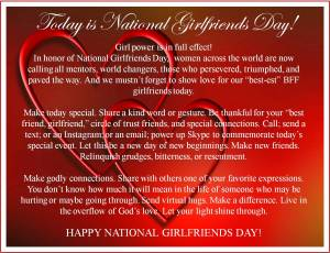 Happy National Girlfriends Day!