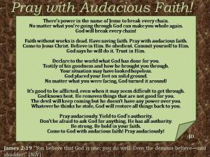 Pray with Audacious Faith!