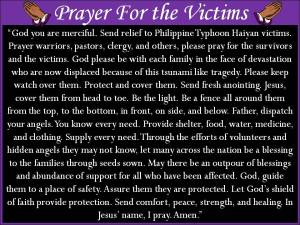Prayer For the Victims