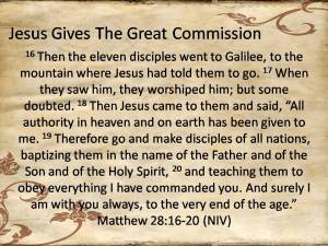 The Great Commission Matthew 28