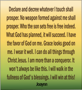 Declare and Decree Joaynn