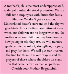 A Mother's Job