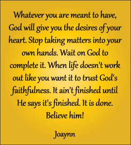 God's Faithfulness Joaynn