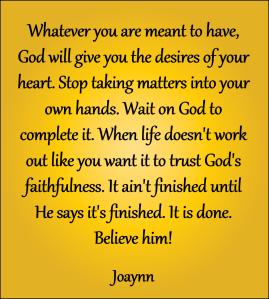 God's Faithfulness Joaynn
