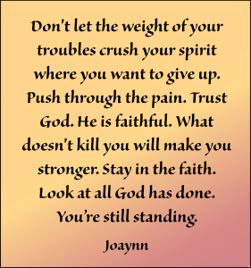 Stay In The Faith Joaynn