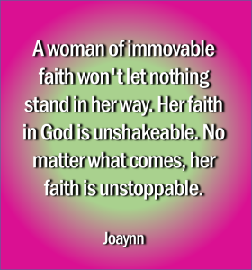 Immovable Faith Joaynn