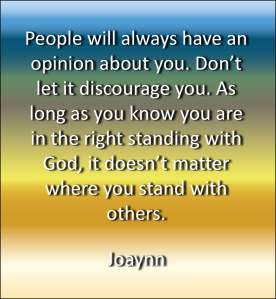 Right Standing With God Joaynn