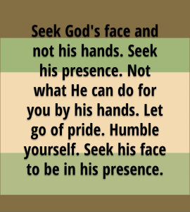 Seek God's Face