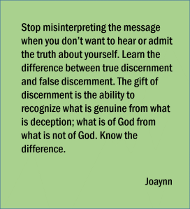 True Discernment Joaynn