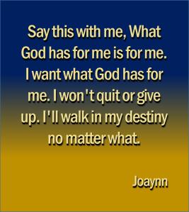I Won't Quit Joaynn
