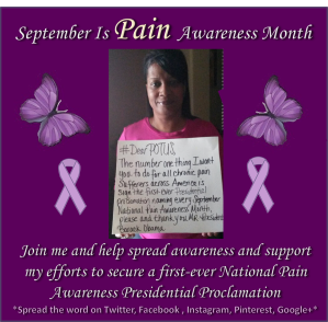 September is Pain Awareness Month--