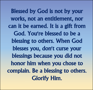 Blessed By God