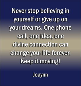 Never Stop Believing Joaynn