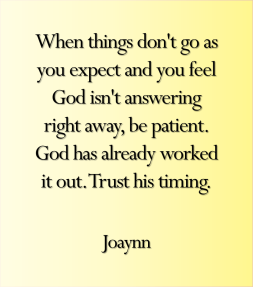 Be Patient Joaynn