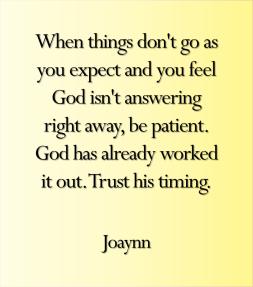 Be Patient Joaynn