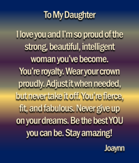 To My Daughter Joaynn