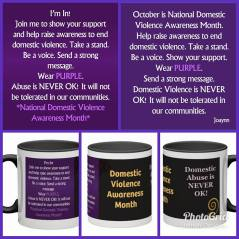 October Domestic Violence Month-
