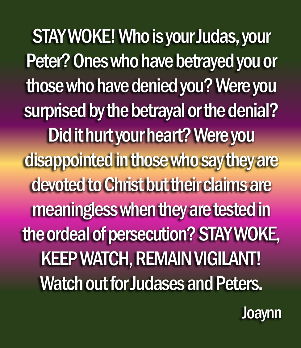 Stay Woke! Keep Watch  Remain Vigilant  Watch out for