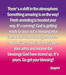 receive the blessings joaynn