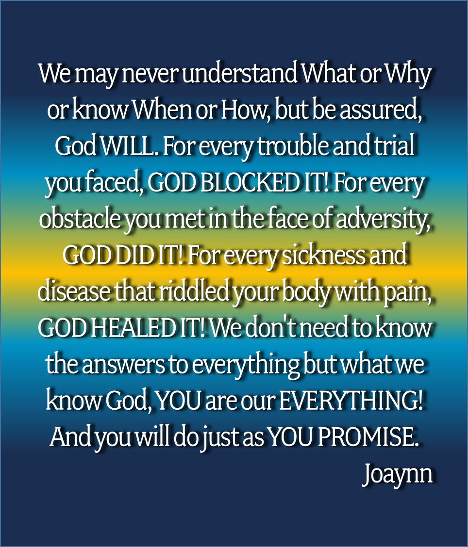 God Blocked It Joaynn