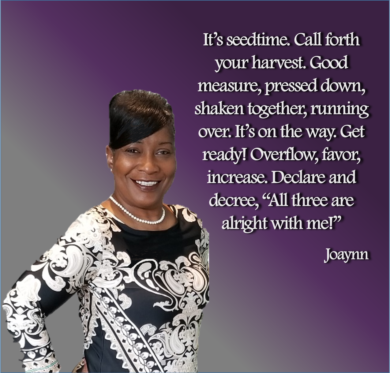 Seedtime Harvest Joaynn