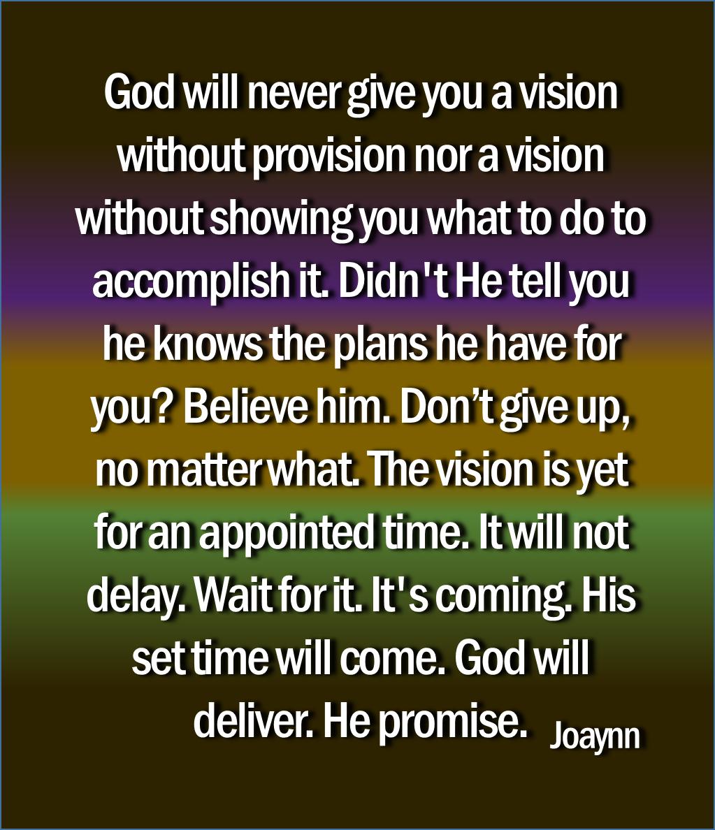 God Will Deliver Joaynn
